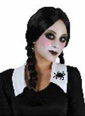 Wednesday Addams Style Halloween Spooky Skooly Fancy Dress School Girl