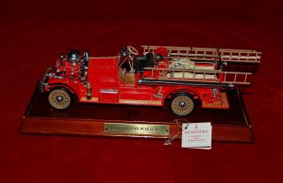 FRANKLIN MINT DIE CAST REPLICA 132 AHRENS FOX FIRE TRUCK 1922