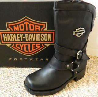 Harley Davidson Amber Harness Black womens boots Waterproof New in
