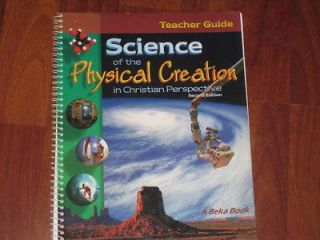 Abeka Science of the Physical Creation Teacher Guide 9th Grade 9