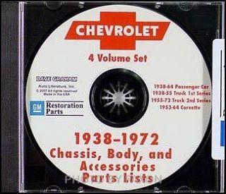 1967 1972 Chevrolet Truck Parts Catalog CD Pickup Suburban Blazer Van
