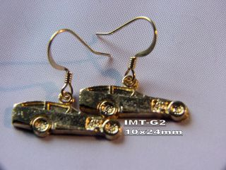 IMCA modified dirt track racing charm earrings auto race car racing