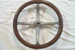 original ford model t steering wheel  wood   nice
