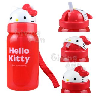 NEW GENUINE Sanrio Hello Kitty Kids School Pop Up Drink Water Bottle