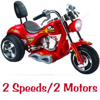 Kids Motorcycle 12v Power Chopper Ride On Wheels Red