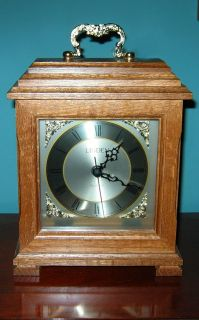 LINDEN WOODEN Shelf CLOCK Excellent Running Condition! USA