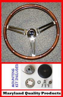 SS CHEVELLE NOVA CAMARO IMPALA Grant Steering Wheel Walnut Wood 15
