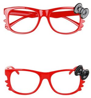 CUTE & FANCY ADORABLE New Hello KItty Bow Style Glasses Frame   RED Y5