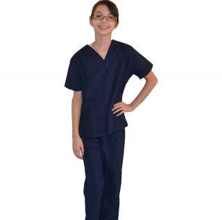Kids Scrubs Navy Blue REAL Childrens Doctor and Nurse Scrub Sets