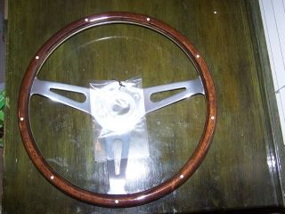 14 1/2 Boat / Marine Wood Grain Steering Wheel