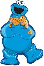 COOKIE MONSTER Sesame Street Figure Shape 31 Party Mylar Foil Balloon