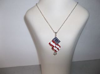 Avon American Flag Necklace Patriotic, 4th. of July, Red,White & Blue