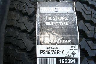 245 75 16 Goodyear Wrangler SilentArmor Tires 109T*SHIPPING DISCOUNT