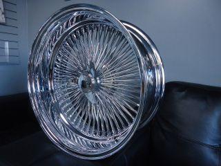 17 DAYTON CHROME 17x8 Wire Wheels Full Set Rims NEW Deep Dish