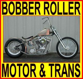 100 MOTOR & TRANSMISSION RIGID BOBBER CHOPPER ROLLING CHASSIS
