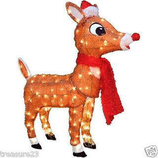 Rudolph Lighted Christmas Holiday Lawn Yard Decoration Indoor/Outdoor