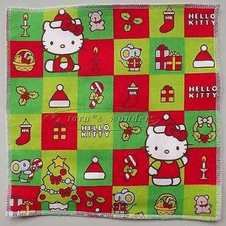 Organic Catnip Cat Toy Play Mat   Christmas Hello Kitty w Green & Red