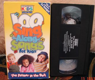 Kids THE FARMER IN THE DELL Vhs 33 of 100 Sing Along Songs V.2 RARE