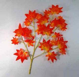 6pcs Maple BRANCH TREE SPRAY ARTIFICIAL PLANT 300pcs FAUX Maple LEAVES