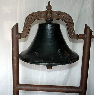 Cast Iron Bell Perin & Gaff MFG Co. GIN. O. Church, School, Farm, Bell