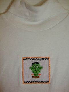 NWT SECRET WISHES smocked boys pantset HALLOWEEN 12 mo