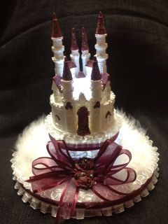 Fairy Tale Cinderella Castle Wedding Cake Topper wtne (OTHER COLORS