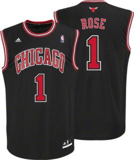 Rose Black Adidas NBA Revolution 30 Replica Chicago Bulls Youth Jersey