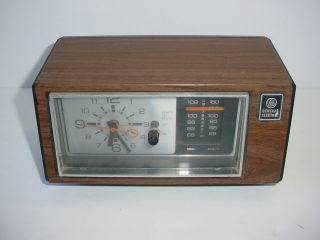 Vintage GE Clock AM/FM Radio 7 4550C Alarm General Electric Retro