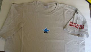 NEWCASTLE BROWN ALE SMOOTH LIKE NO OTHER T SHIRT L XL NEW