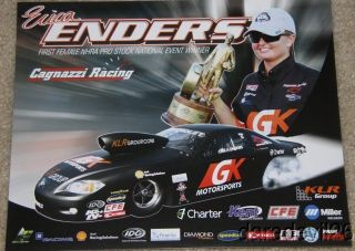 Erica Enders GK Motorsports 3rd issued Chevy Cobalt PS NHRA postcard