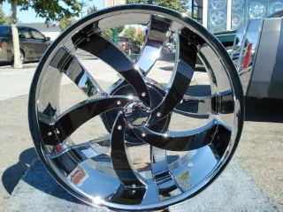 22 INCH VELOCITY 825 CHROME & BLACK RIMS AND TIRES BUICK LE SABRE