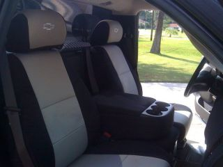 FRONT Seat Covers for Chevy Silverado 2007 2011 LOGO (Fits: Chevrolet