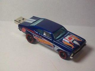 Custom 68 Chevy Nova Racing Hot Wheels USB Flash Drive 8GB