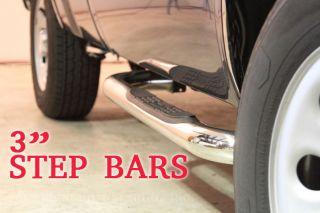 Bars Running Board Nerf Stainless Steel Chevy Tahoe Blazer C/K Yukon