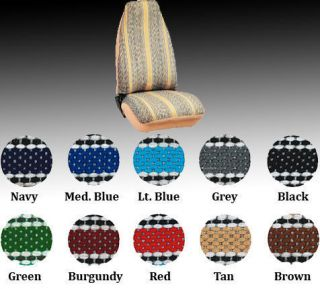 High Back Bucket Seat Covers in Saddle Blanket (Fits Chevrolet Nova)