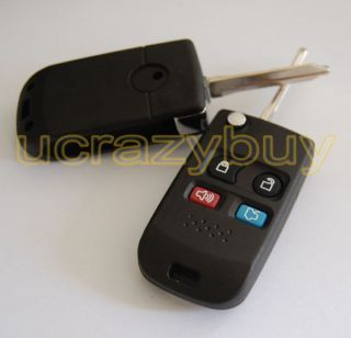 REMOTE KEY FOB CASE SHELL + PAD Modified FORD Key (Fits Ford Fusion