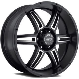 AR890 RIMS WHEELS BLACK 17x8 5x139.7 +0 (Fits 2004 Dodge Durango