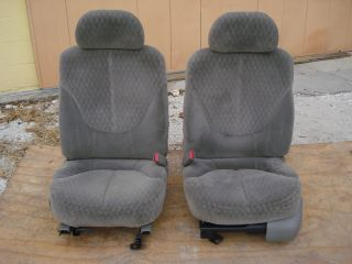 POWER DRIVER BUCKET SEATS GMC SONOMA CHEVY S10 TRUCK BLAZER LIGHT GRAY