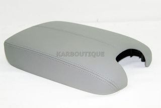 HONDA ACCORD GRAY REAL LEATHER CONSOLE LID ARMREST COVER (Fits Honda