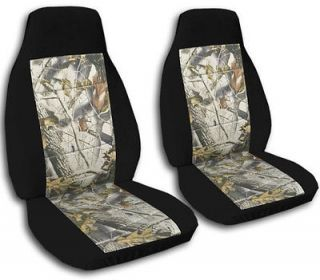 JEEP CHEROKEE CAR SEAT COVERS BLACK/ REAL TREE CAMO COMBINATION FRONT