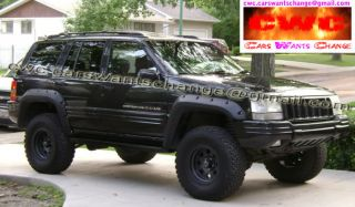 JEEP GRAND CHEROKEE ZJ 1992   1998 FENDER FLARES   WHEEL ARCH