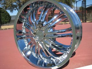 20 Chrome Wheel Rims Lincoln Aviator Nissan Altima 350Z
