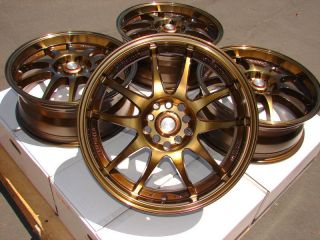 16 Bronze Effect Wheels Rims 5 lugs Scion TC Xd Forester Impreza
