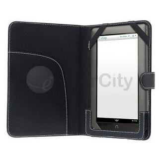 For  Nook Color Leather Case   Black