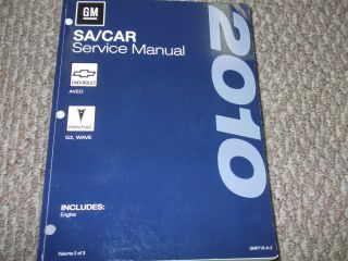 2010 CHEVY CHEVROLET AVEO Service Shop Repair Manual VOL 2 ENGINE BOOK