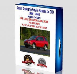 Saturn Service Repair Manuals DVD 1998 2005 ION VUE SL1 SL2 SC1 SC2