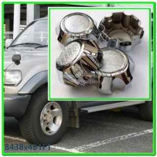 Toyota Land Cruiser 100 Series Alloy Wheel Center Caps Hubcaps Rim
