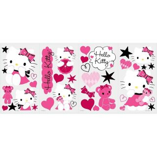 HELLO KITTY COUTURE 38 BiG Wall Decals Pink Black Vinyl Room Decor