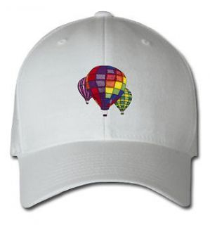 HOT AIR BALLOONS AIRCRAFT SPORTS SPORT EMBROIDERED EMBROIDERY HAT CAP