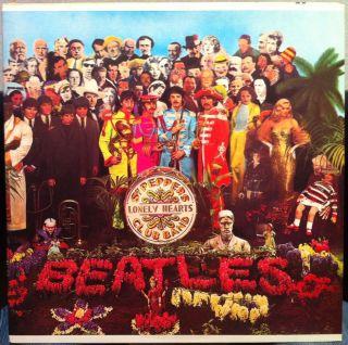 THE BEATLES sgt peppers LP Mint  SMAS 2653 Vinyl Purple Lbl 70s Press